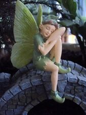 "Miniature Garden Sitting Sleeping ""Moth Boy Fairy"" New"
