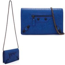 BALENCIAGA Giant Chain Wallet Bag Clutch in Bleu Rivage