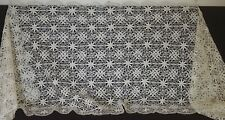 Vintage Lace Shawl With Lovely Sheen Uu80