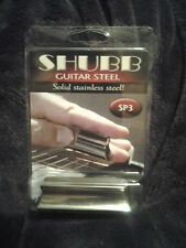 New Shubb SP3 Pearse Slide Guitar STAINLES Steel Bar Double Cutaway, Free S&H