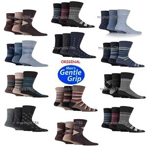 Mens Origina Gentle Grip Soft Honeycomb Top Socks Can Use For Diabetic Size 6-11