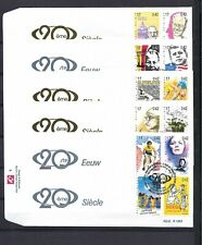 [LG3701] N°2858/2877FDC Tintin First Day Cover COB € 40,00 SUPERBE