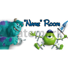 Disney Monsters Inc Personalised Bedroom Door Sign - Any Text (3)