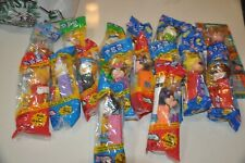 Pez Disney Lot of 17 New Mickey Minnie Mouse Mrs Incredible Donald Duck Cars Plu