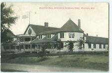 Waupaca Wisconsin Marston Hall Veteran's Home 1908 Postcard 22684