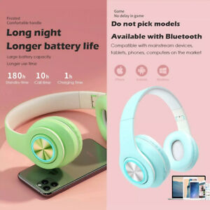 Wireless Headphones Bluetooth Headset Noise Cancelling Stereo Over Ear Earphones