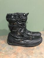 THE NORTH FACE WOMEN'S BLACK ICEPICK FAUX FUR LINED LACE UP ANKLE BOOTS SIZE 8