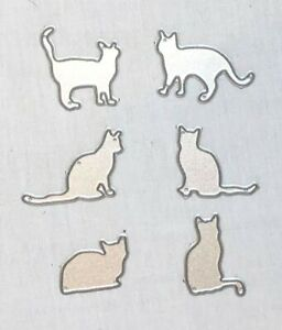 6 Cat Silhouette Die Cut Embossing Stencils - All Proceeds to MacMillan