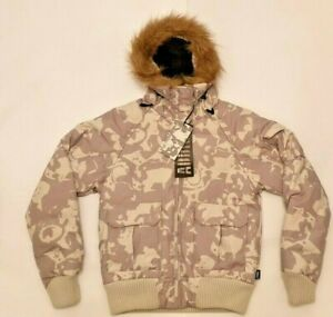 Women's Addict Parka Duck Down Coat in Snow Jago Camo. Brand New! ---- Was £125
