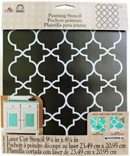 Plaid:Craft Plastic FolkArt Painting Stencil 8.5-Inch x 10-Inch-Moroccan Tile