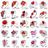 Wedding Garnet Ruby & White Topaz Gemstone Jewelry 925 Silver Ring Size 6-13 New