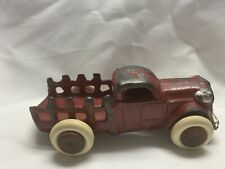 Vintage Slush Cast Toy Stake Bed Truck  3""