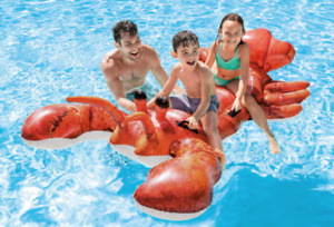 Intex Lobster Inflatable Ride On Pool Toy