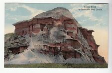 [52477] OLD POSTCARD CASTLE ROCK IN MONTANA BAD LANDS