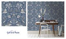 Arthouse COUNTRY FOLK Woodland Caractéristique Papier Peint Animaux Fleurs Bleu 697300