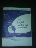 WORLD BOOK ENCYCLOPEDIA 1954 ANNUAL SUPPLEMENT FIELD ENTERPRISES INC VINTAGE