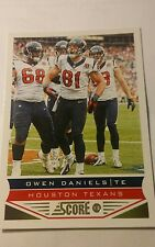 NFL Trading Card Owen Daniels Houston Texans Score 2013 Panini