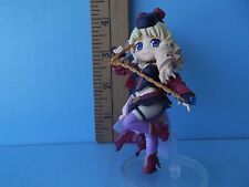 """Macross Frontier Sheryl Nome 3.75""""in Mini Figure in Sexy Black Outfit Red Shoes"""