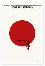 """Cuban movie Poster for Japanese film""""KANSUKE,The Strategist""""Samurai.Japan Art"""