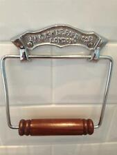 British Paper London Vintage Chrome Toilet Roll Loo Paper Holder Retro Bathroom