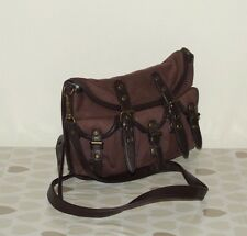 Brown Canvas & Look Leather decoration BARRATTS Small Messenger Cross Body Bag