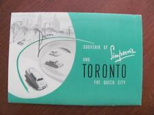 Simpsons Department Store TORONTO CANADA Vintage Souvenir Advertising Foldout