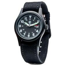 Smith & Wesson Black Face Military Watch Gs - Water Resistant Up To 30-Meters
