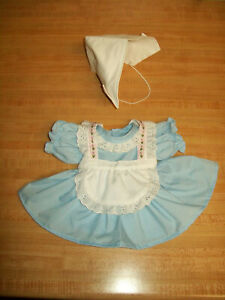 """DUTCH HOLLAND DRESS APRON HAT HANDMADE for 15-16"""" CPK Cabbage Patch Kids"""