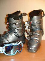 Great Salomon Evolution 800, M 9.5 Ski Boots + Bolle Snow Googles