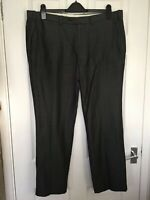 M&S Collection Mens Dark Grey Wool Blend Tailored Fit Trousers size W38 L29