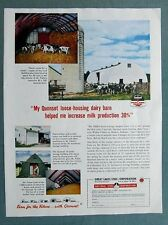 Orig 1954 Quonset Farm Barn  Ad Photo Endorsemen by Walter Fisher of Muncie IND