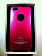custodia rigida per Apple iPhone 5 5s colore fucsia metallizzato in alluminio