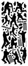 5 Sheets of GOLD SPORT SPORTSMAN Peel Off Outline Stickers Cricket.