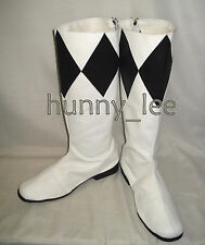 Black Ranger Cosplay Shoes Boots Custom-Made