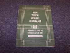 1980 Chevy P10 P20 P30 P-Series Truck Factory Electrical Wiring Diagram Manual