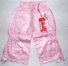 Chi Long Girls Shimmer Pink Capri Pants size 5-6 110/116 new