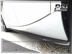 For 2014+Lexus IS250 IS350 F-Sports DP Style Carbon Fiber Side Skirts Add On Lip