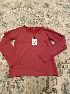 Zyia Red Heather Performance Long Sleeve Top Size XL NWT