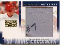 """JD Drew 2005 Donruss Prime Patches Jersey """"1/1"""" Logo Patch St. Louis Cardinals"""