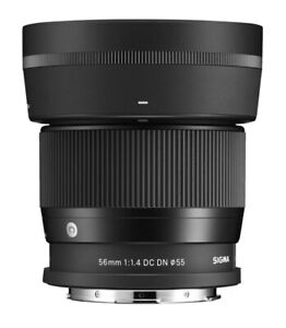 SIGMA 56MM F/1.4 DC DN CONTEMPORARY LENS FOR L-MOUNT IN BOX Plus Receipt