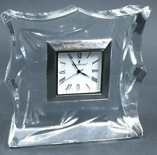 """Small Waterford Crystal Clock 4"""" Bamboo Collection Quartz 2002"""