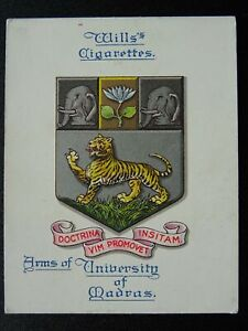 No.18 INDIA MADRAS UNIVERSITY Arms of Universities L25 W.D.& H.O.Wills 1923