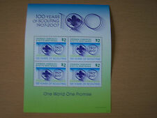 GRENADA,CARRIACOU,100 YEARS OF SCOUTING,U/M M/SHEET,CAT £9.EXCELLENT.