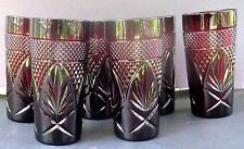 Cristal d'Arques Durand Luminarc Ruby Red Tumblers Set Of 6 Mint France (set 2)