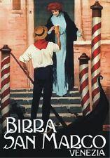 """Vintage Werbeschild """"1908 BIER SAN MARCO"""" WERBUNG,ADVERTISING,POSTER, REKLAME"""