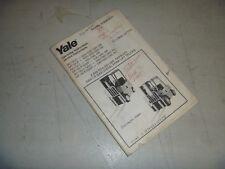 Yale GP020 GP025 GP030 GLP020 GLP025 CB Forklift Operator Maintenance Manual