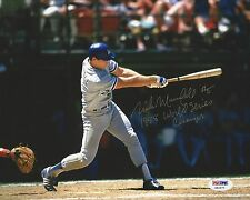 Mike Marshall Los Angeles Dodgers 1988 WS Champs signed 8x10 Photo PSA X60577