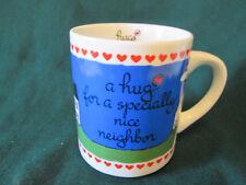"Abbey Press Mug ""A HUG FOR A SPECIALLY NICE NEIGHBOR""  Mug :""Hugs To You"""