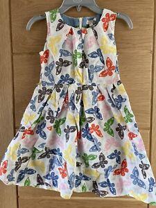 Mini boden Summer Butterfly Dress Age 7-8