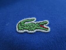 Lacoste Long Sleeve Cotton Solid Blue 1/4 Zip Pullover Sweater Euro 7 XL France